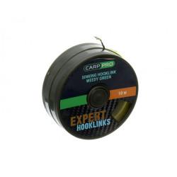 Повод Carp Pro SKINBRAID WEEDY GREEN SINKING 10m -10/15/20lb - Зелено - 3D