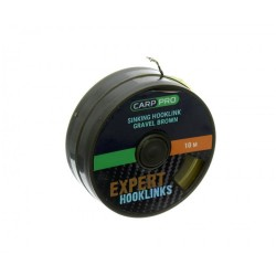 Повод Carp Pro GRAVEL BROWN SINKING BRAID 10м -10/15/20lb - Кафяво - 3D