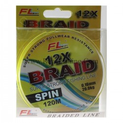 Плетено влакно 12 нишково FL 12X SPIN 0,08мм -0.22мм – 120м