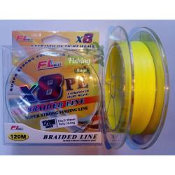 Плетено влакно FL X8 PE 0,08мм -0.20мм – 120м